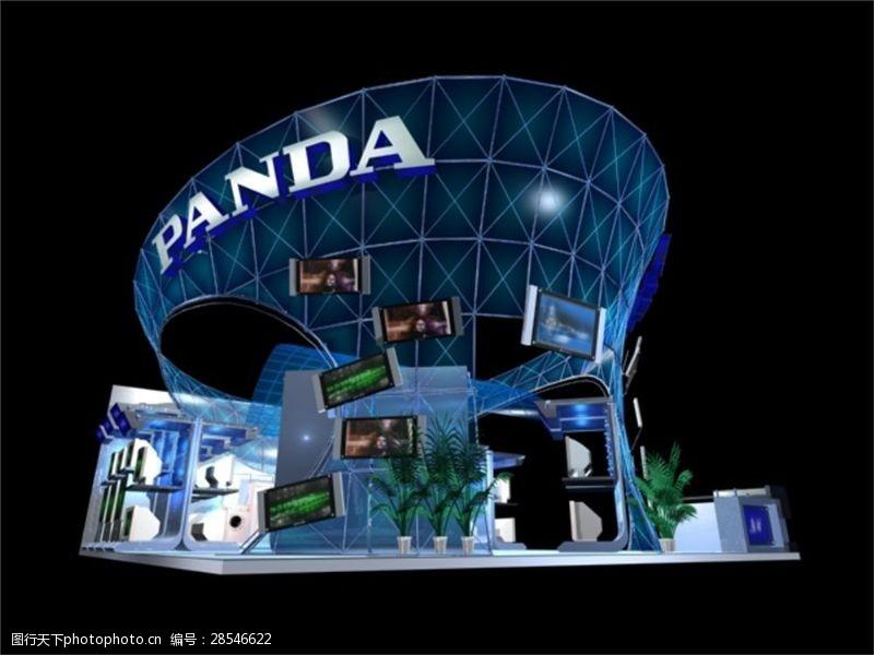 高端設計展廳模型