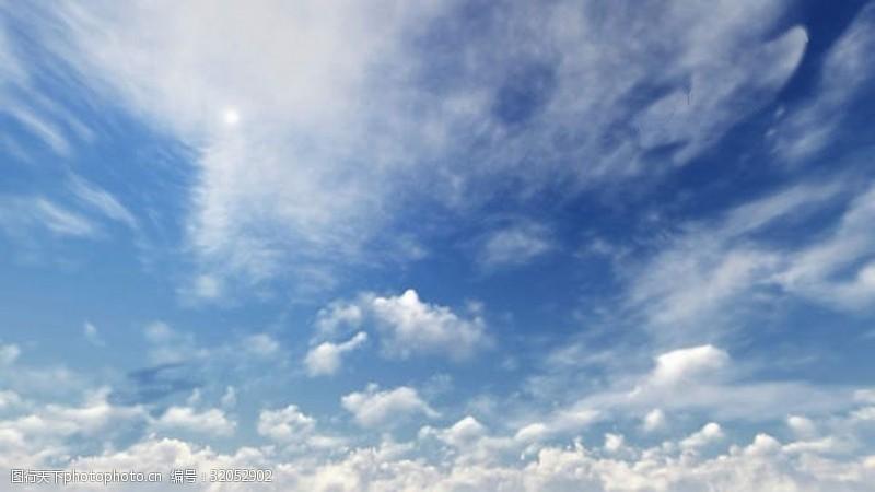 明媚天空和云彩视频素材