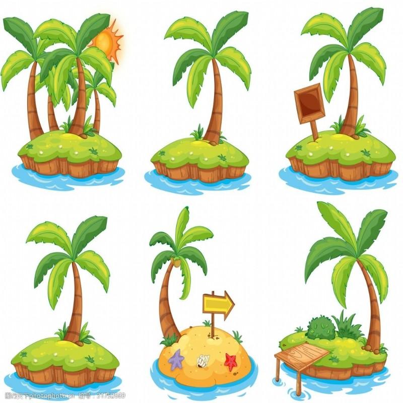 矢量椰树素材素材图片卡通城邑常州建筑设计图片