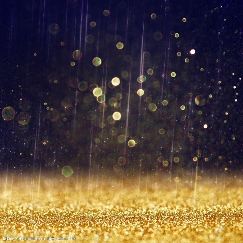未来感背景金色粒子流动背景