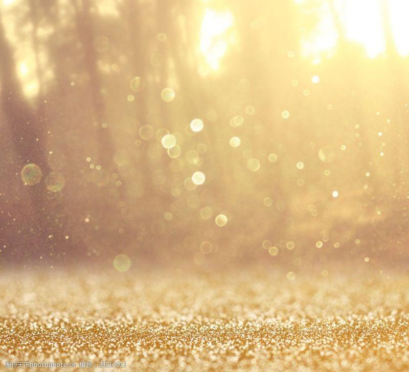 未来感背景金色星空背景