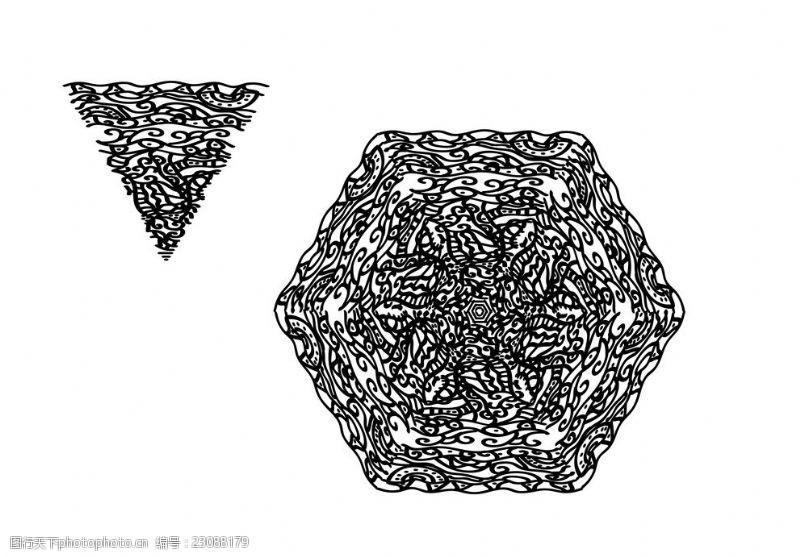 适量图案传统花纹矢量装饰图案