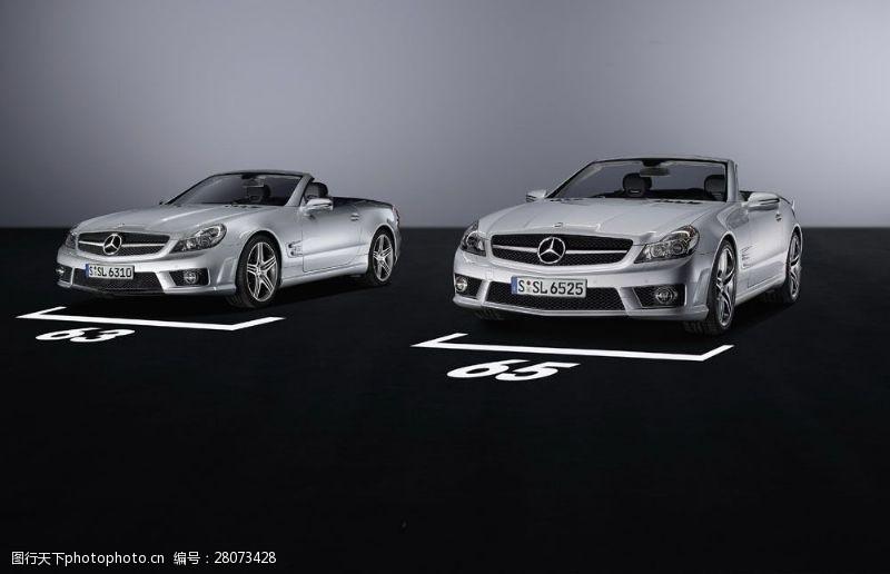 品牌轿车奔驰跑车摄影图片