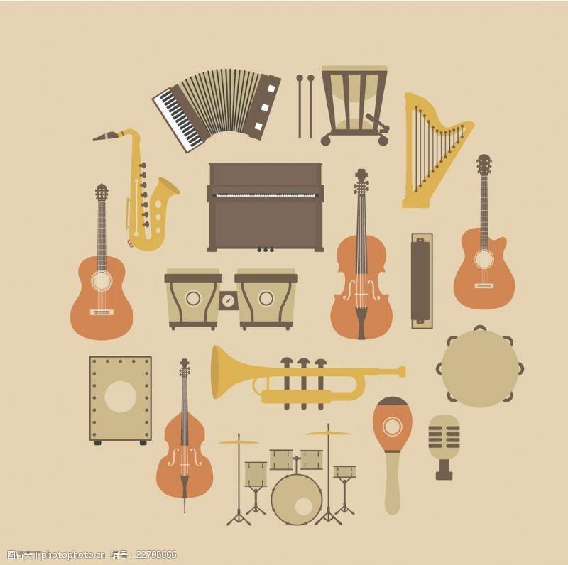 阿炳音乐乐器文化墙