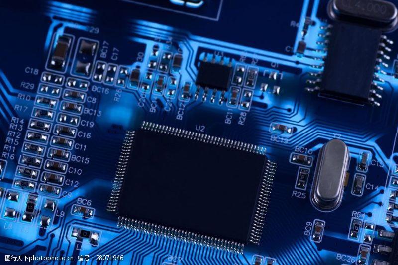 中央处理器电脑芯片主板图片