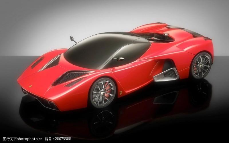 品牌轿车红色豪华跑车图片