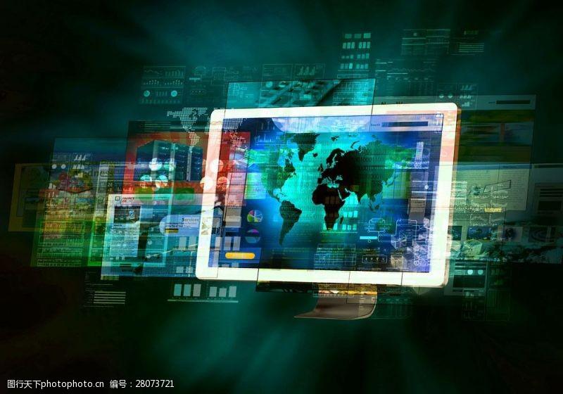 科技通讯网络平板电脑背景图片