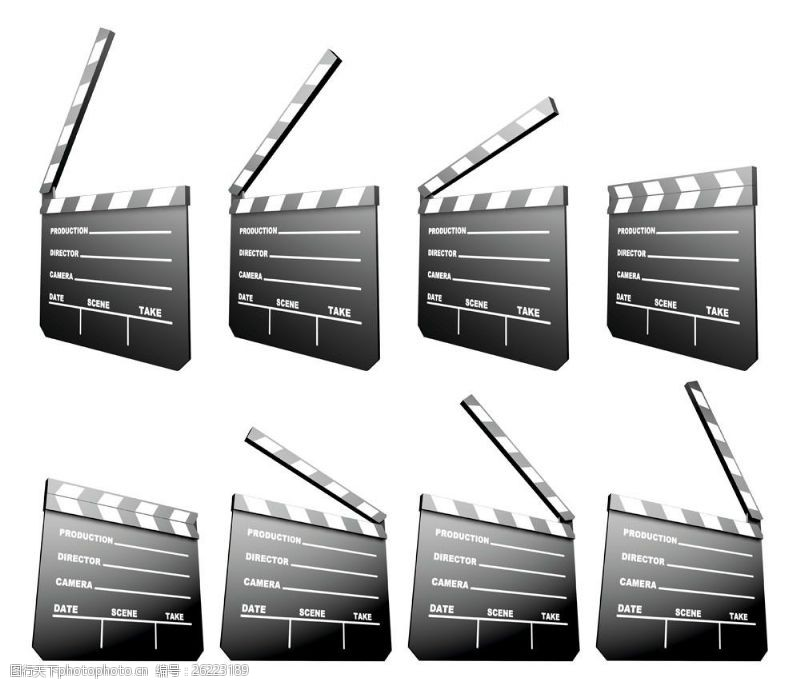 拍电影场记板模型图片