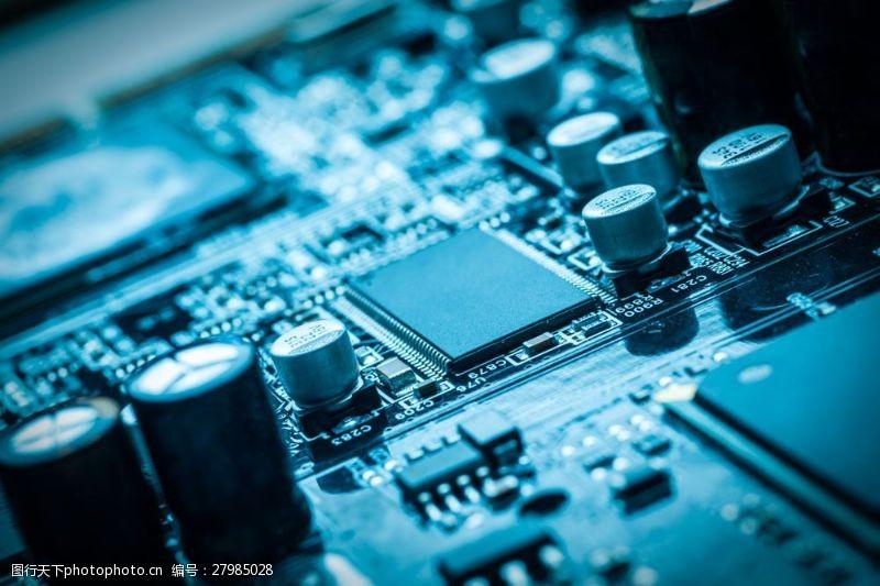 中央处理器电阻与芯片图片