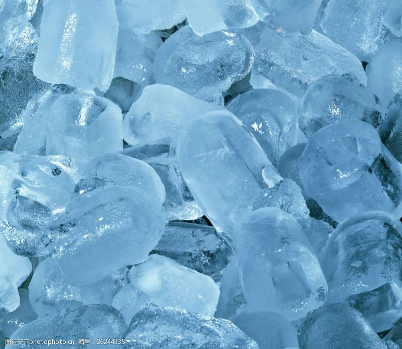 蓝色冰块背景图片