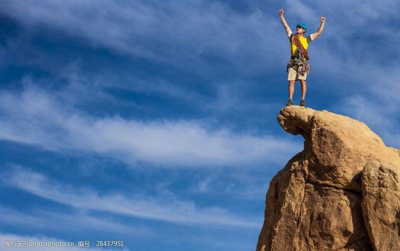 登山的男人户外登山的人物高清