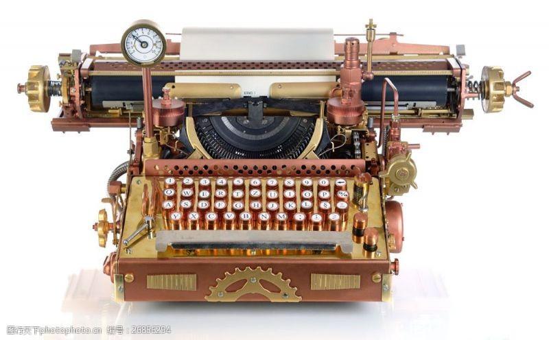 蒸气朋克古代打字机图片