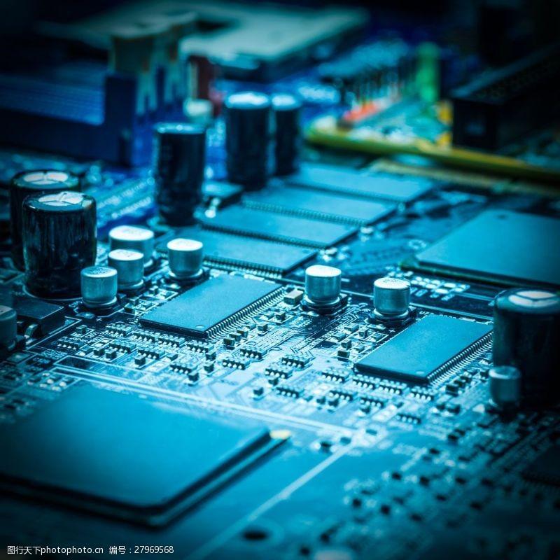 中央处理器CPU芯片摄影图片