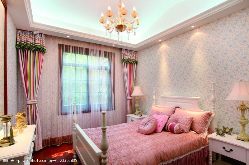 法式风格效果图法式风格高清卧室实景图