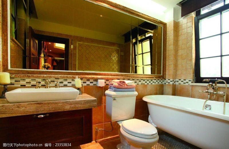 法式风格效果图法式风格室内设计卫生间实景图
