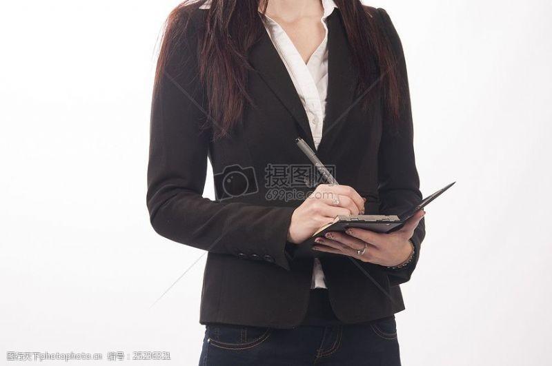 女秘书做会议记录