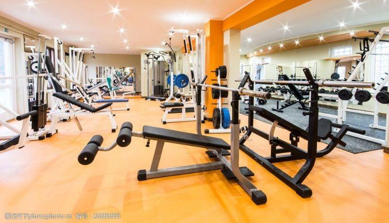 健身房器材摄影图片