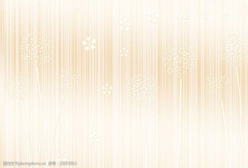 五叶草现代简约欧式花朵纹理墙纸背景墙