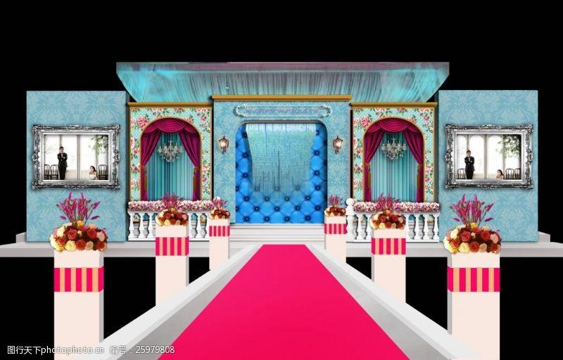 婚礼欧式舞台设计