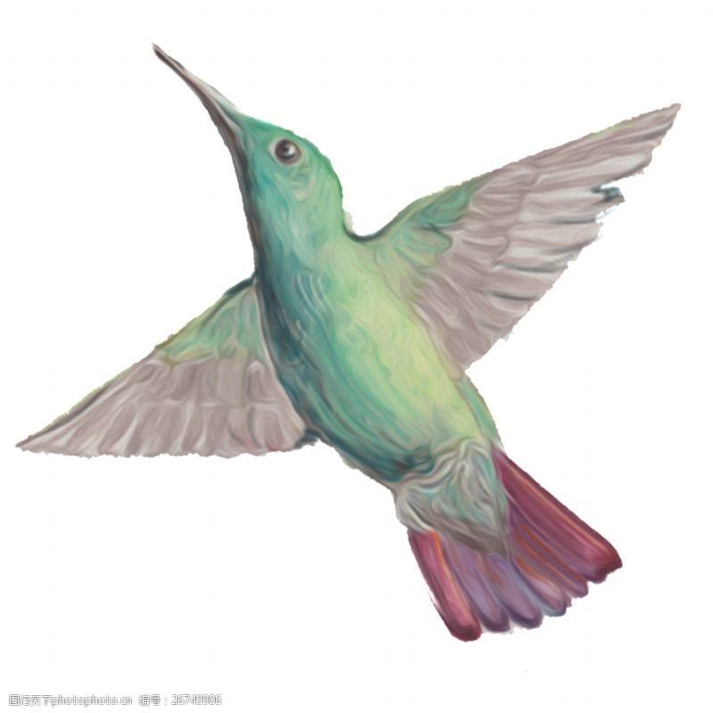 手绘飞翔的鸽子高清素材