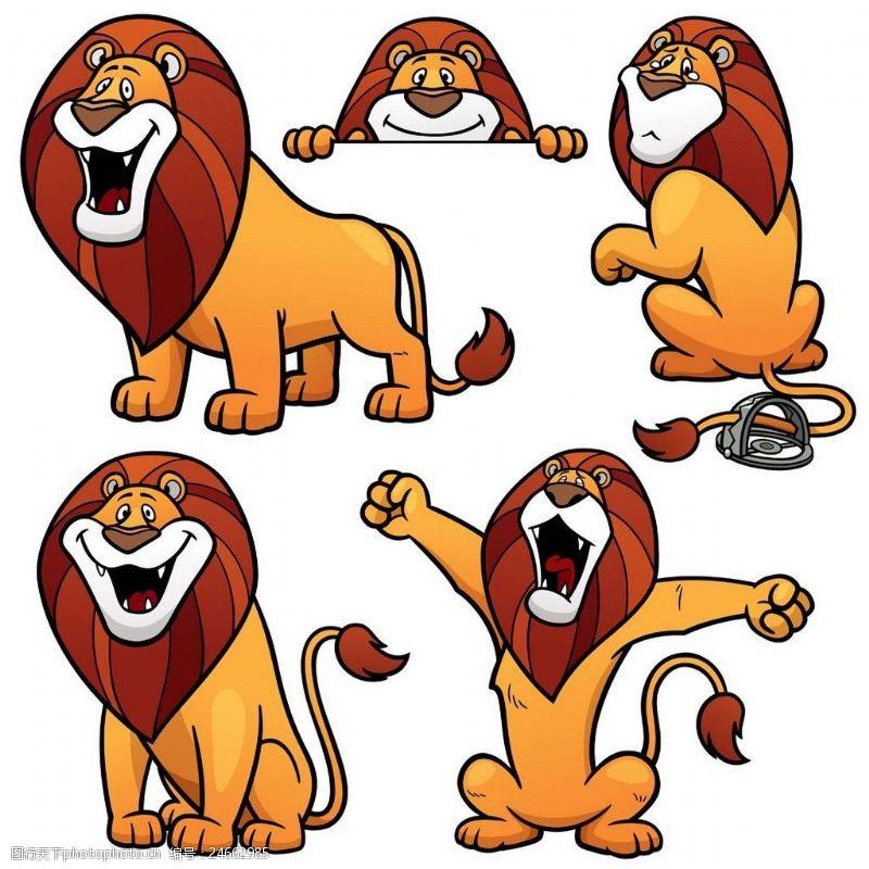 卡通雄狮漫画图片