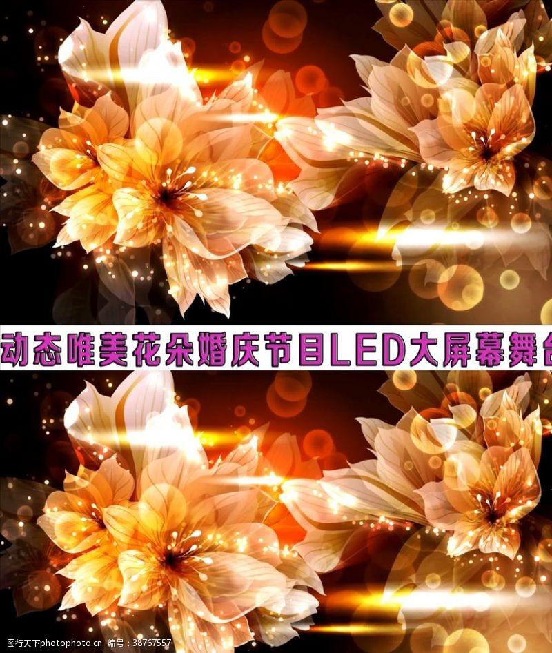 花朵動態唯美晚會舞LED大屏幕