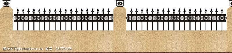 铁艺围墙背景