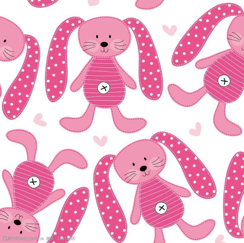 可爱卡通兔印花花型