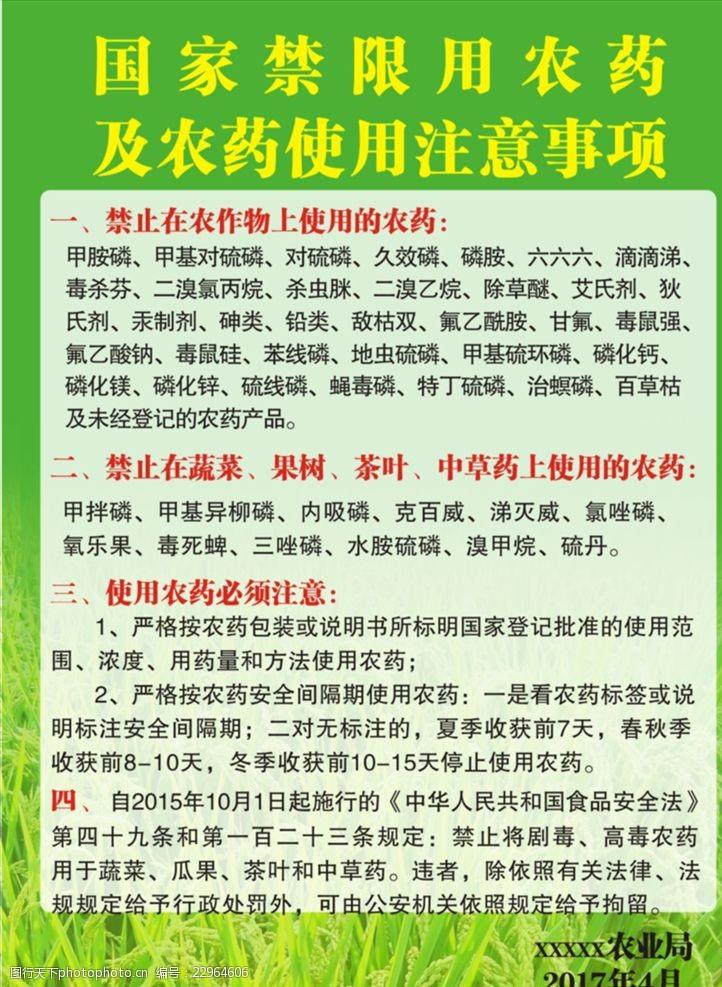 世界银行国家禁用农药宣传海报