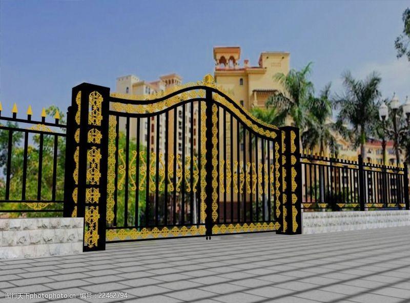 铁艺围墙铁艺大门及围墙