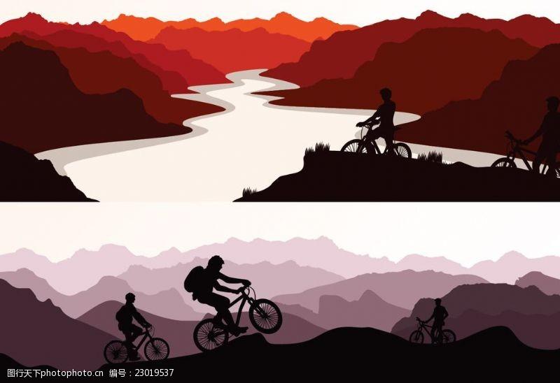 野外运动越野自行车