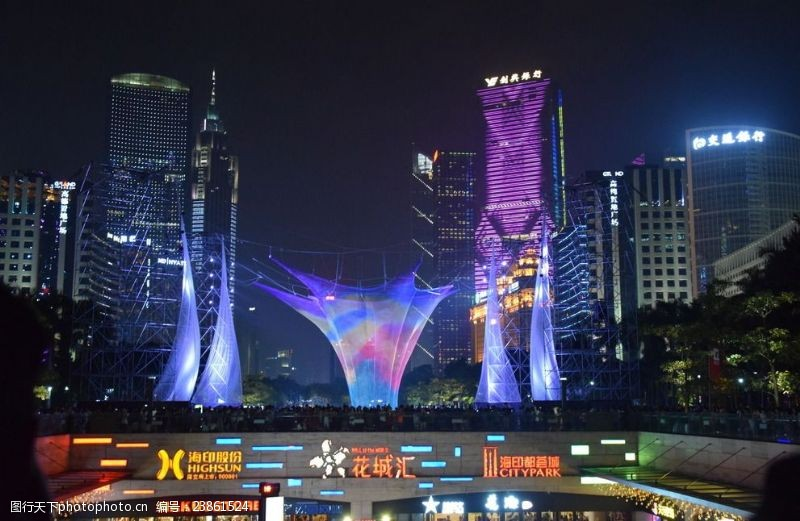 城市流光广州夜景