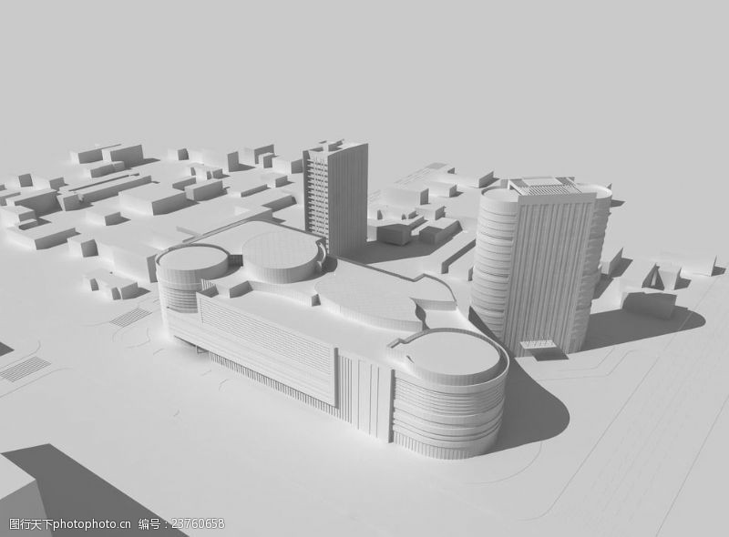 地产广告艺术建筑模型
