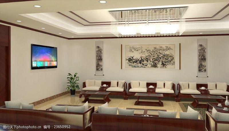 地产广告艺术会客厅效果图