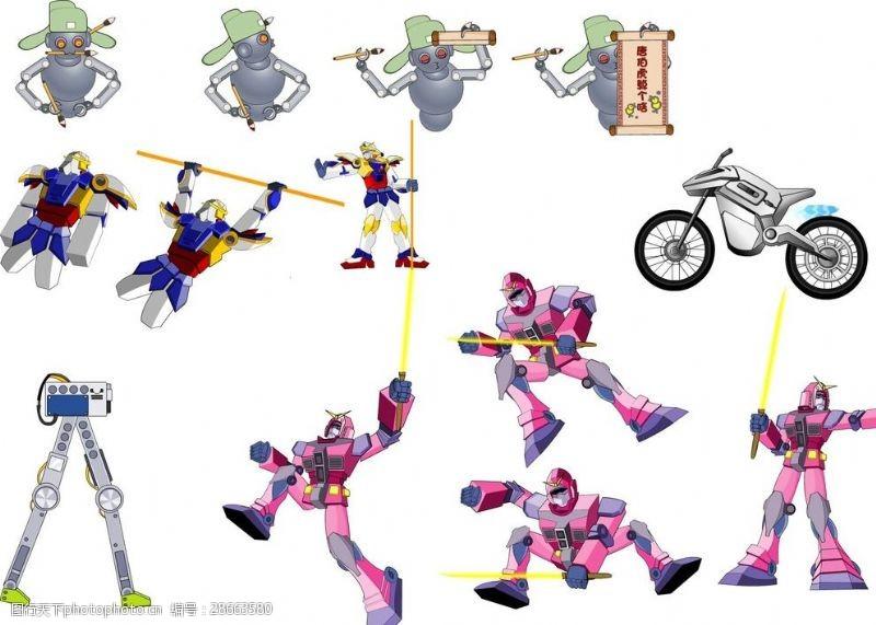 手造型各种机器人造型