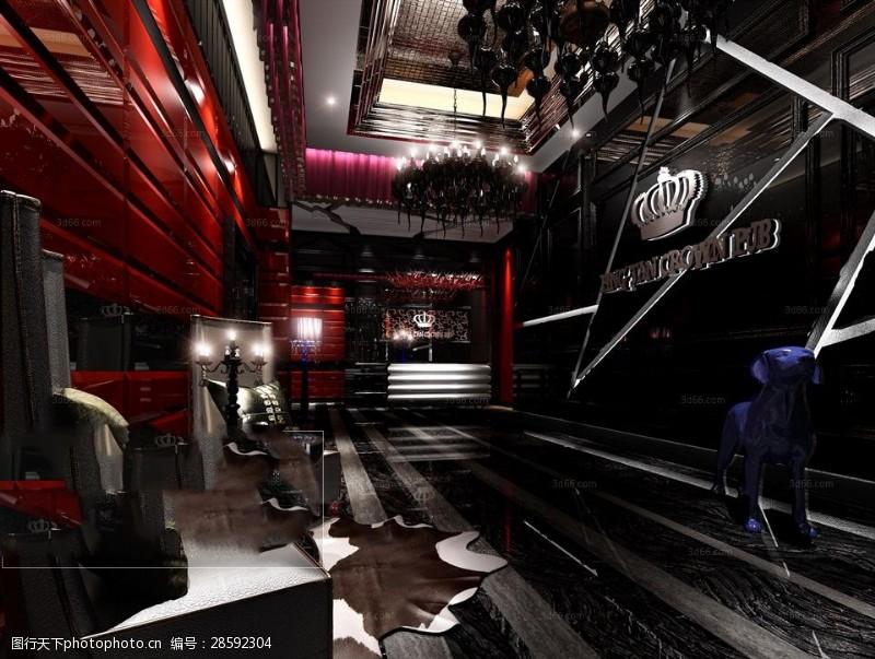 室内场景模型时尚个性风格KTV娱乐会所模型下载