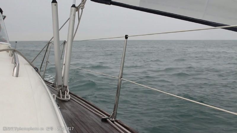 gopro在游艇上航行