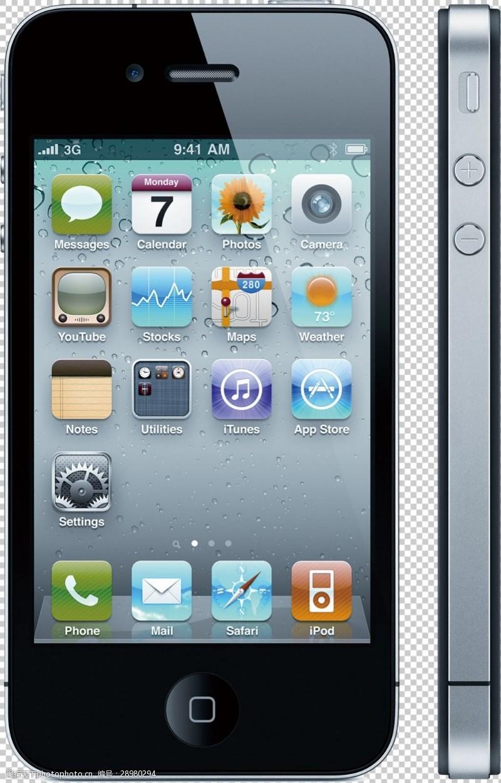 手机图片素材苹果智能手机免抠png透明图层素材