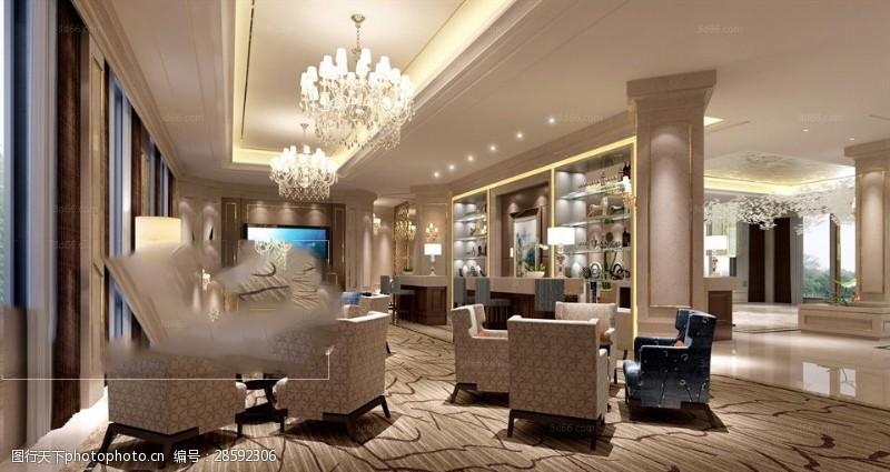 室内场景模型后现代风格办公会议室模型下载