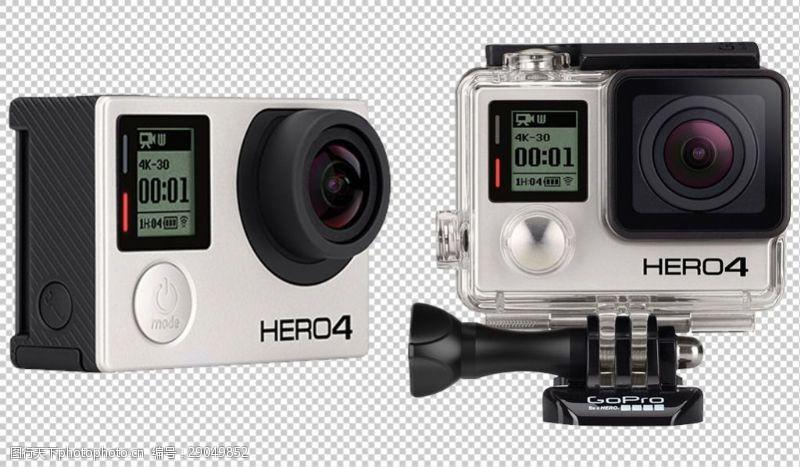 gopro两个GoPro相机免抠png透明图层素材