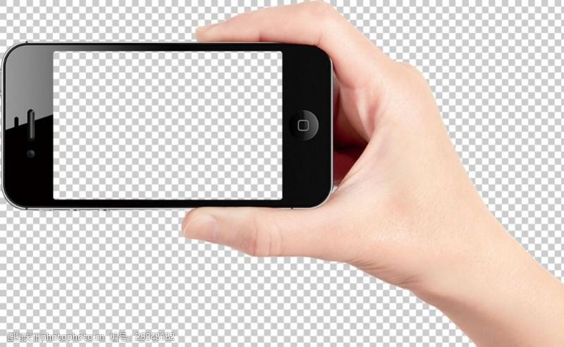 手机图片素材手拿智能手机图免抠png透明图层素材