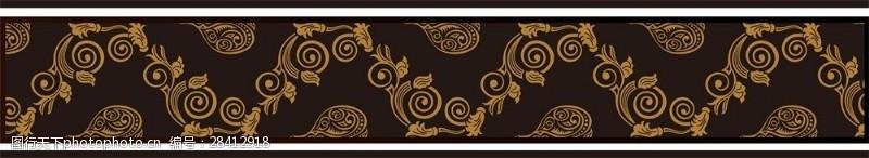 花纹效果金色花纹移门创意画