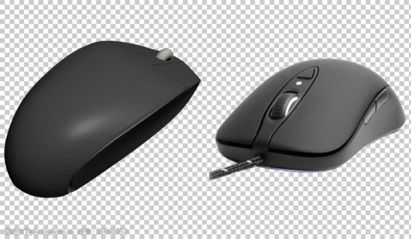 卡通鼠标两个黑色鼠标免抠png透明图层素材