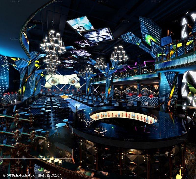 室内场景模型高端大气舞台模型下载