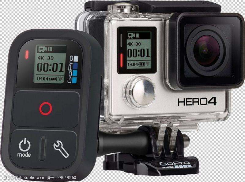 水下相机gopro免抠png透明图层素材