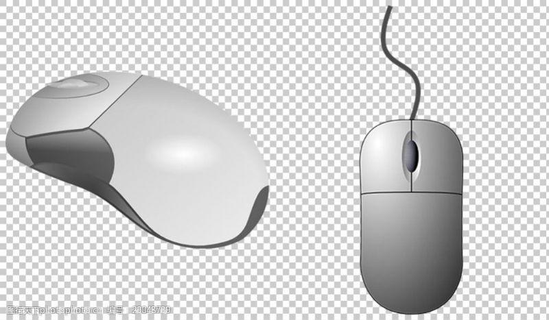 卡通鼠标银色的鼠标免抠png透明图层素材
