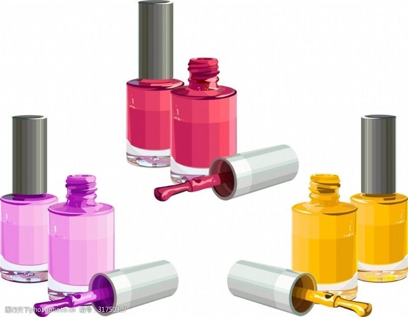 美容化妆相关各种化妆品矢量素材