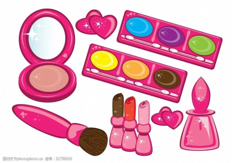 美容化妆相关各种化妆品矢量素材kosmetika_y