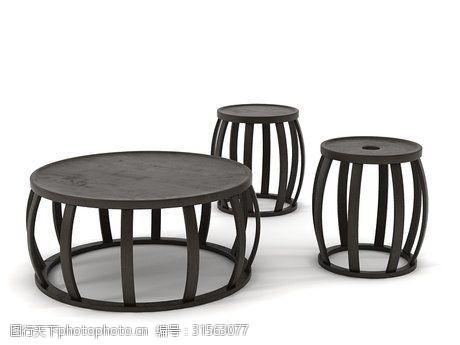 3d模型下载新中式茶几家具3d模