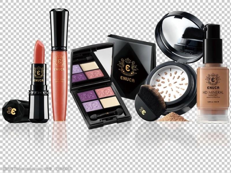 一堆各种化妆品免抠png透明图层素材